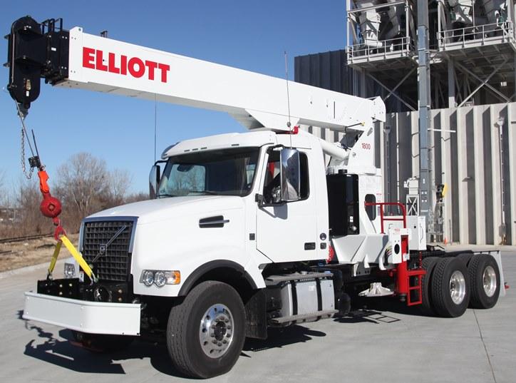Tractor Hydraulic Boom Crane : Tm ton boom truck truss crane elliott equipment