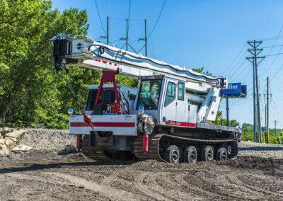 elliott boom truck near phone wires