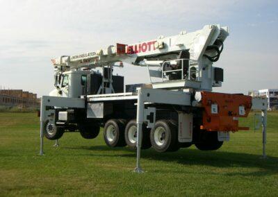 e 120 truck in field