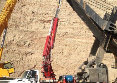 trucks working in desert