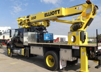 yellow s 50 skywalk truck from back