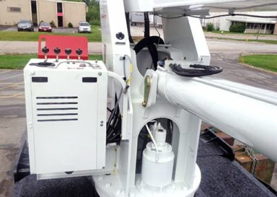 closeup of 18125 truck control console