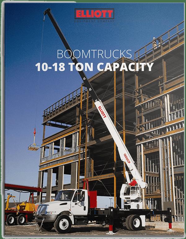 Boomtrucks 10 to 18 ton lifting capacity brochure cover