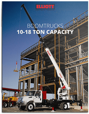 Boomtruck 10-18 ton capacity Brochure Cover
