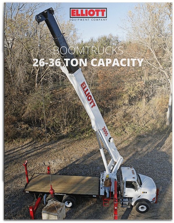 Boomtrucks 26 to 36 ton lifting capacity brochure cover
