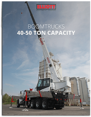 Boomtruck 40-50 ton capacity Brochure Cover
