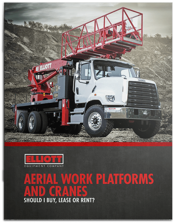 Aerial work platforms and cranes: Should I buy, lease or rent? brochure cover
