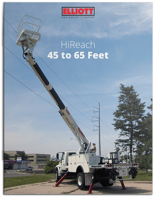 HiReach 45 to 65 feet brochure cover