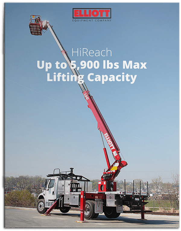 HiReach up to 5900 pounds lifting capacity brochure cover