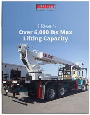 HiReach over 6,000 pounds max lifting capacity brochure cover