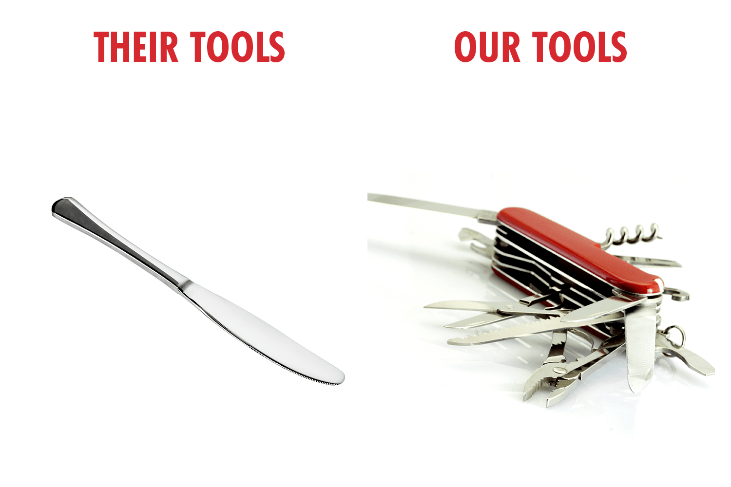 their tools vs our tools